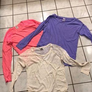 Victoria's Secret Pink Bundle of 3 shirts sz M